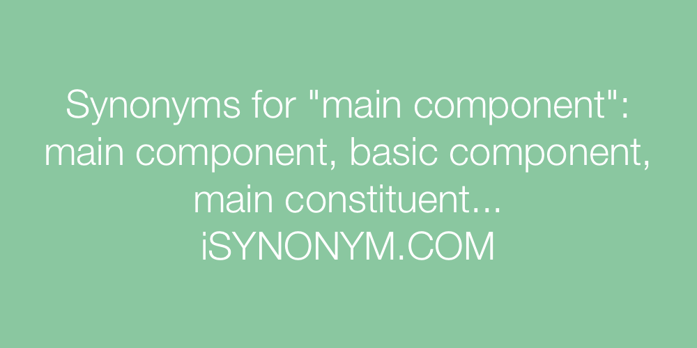 Synonyms main component