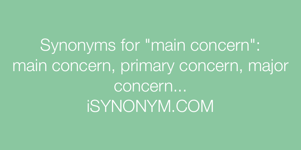 Synonyms main concern