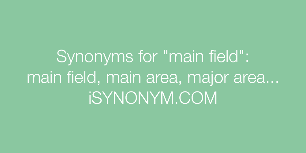 Synonyms main field