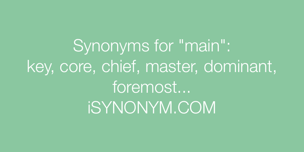 Synonyms main