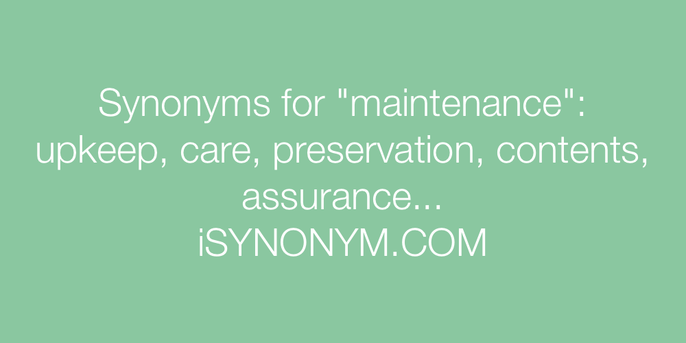 Synonyms maintenance