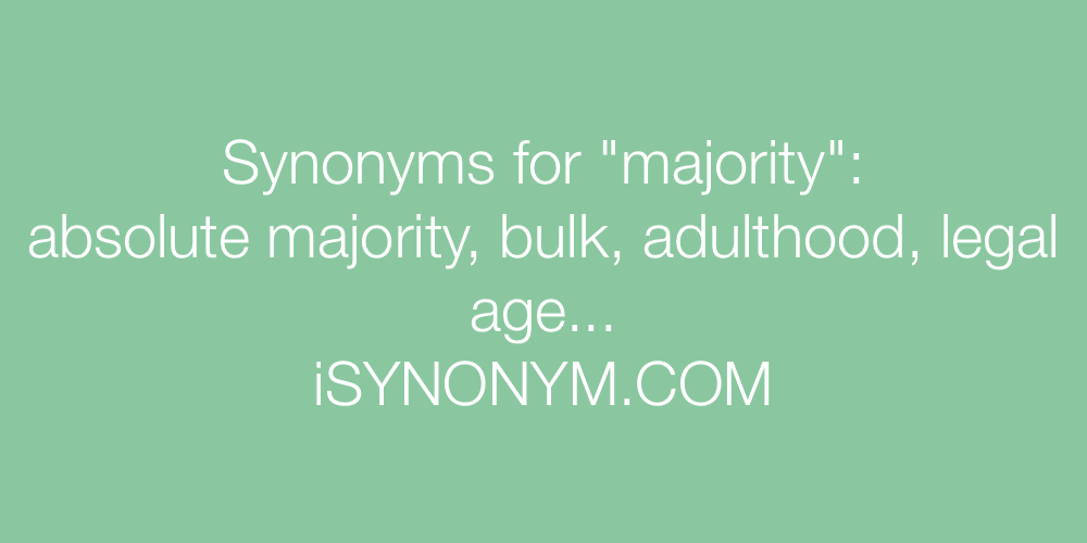 Synonyms majority