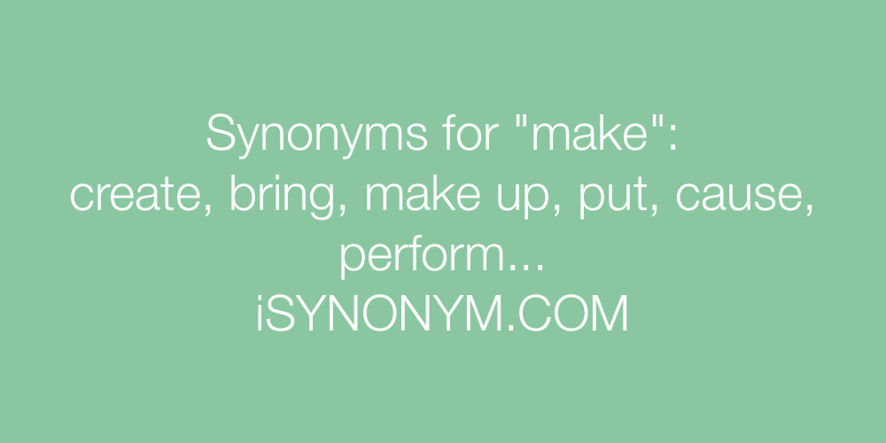 Synonyms make