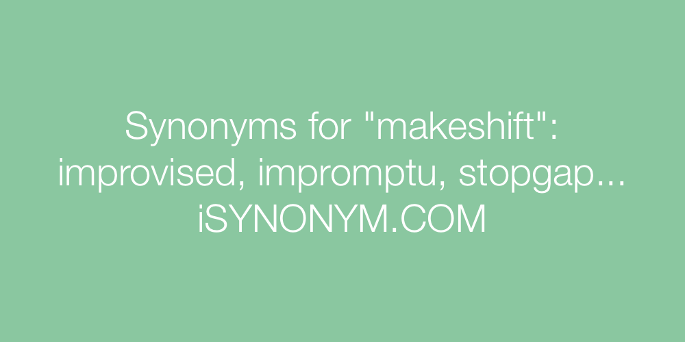 Synonyms makeshift