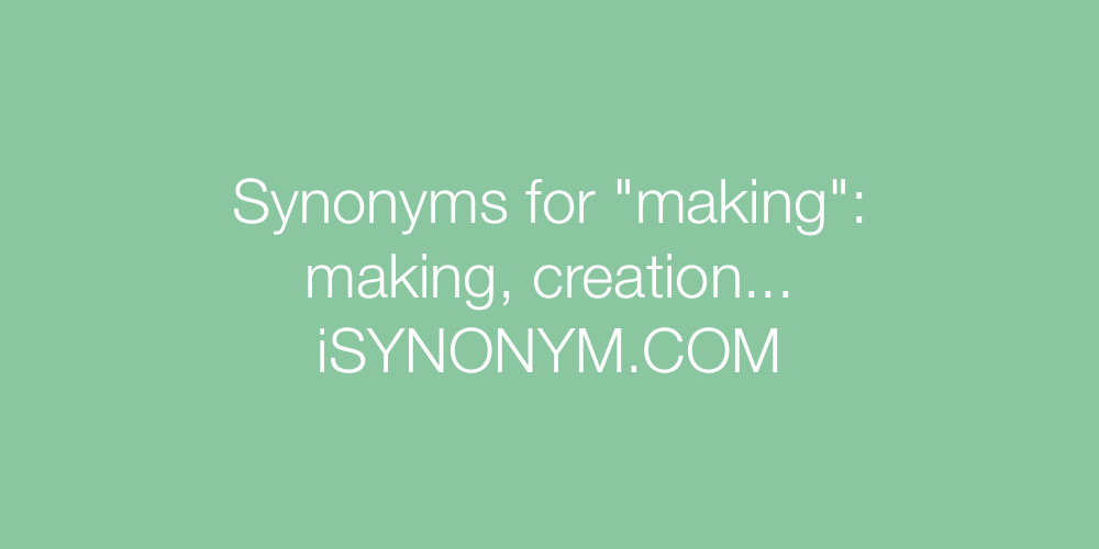 Synonyms making