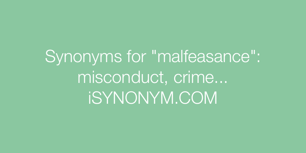 Synonyms malfeasance