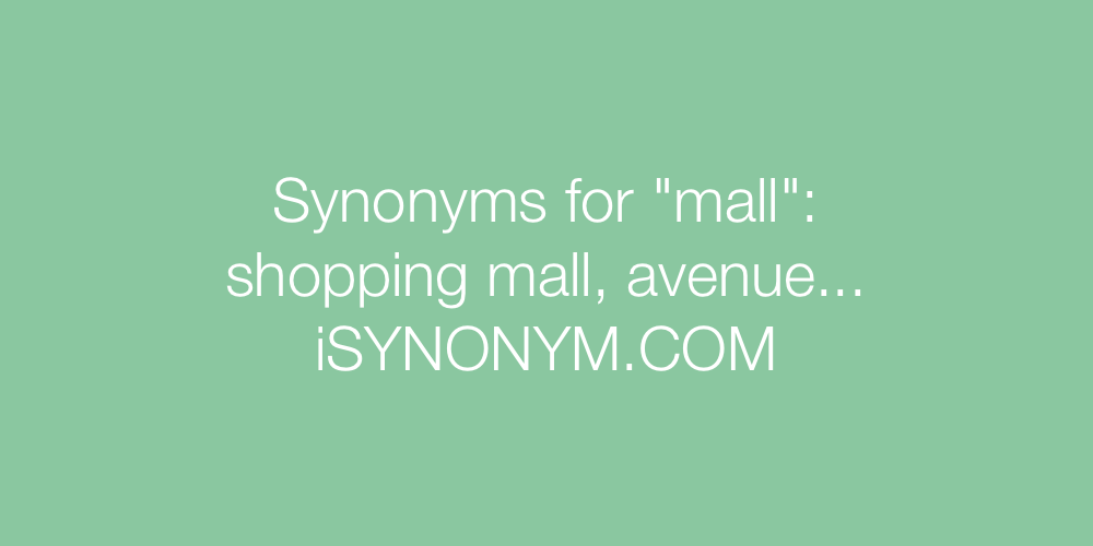 Synonyms mall