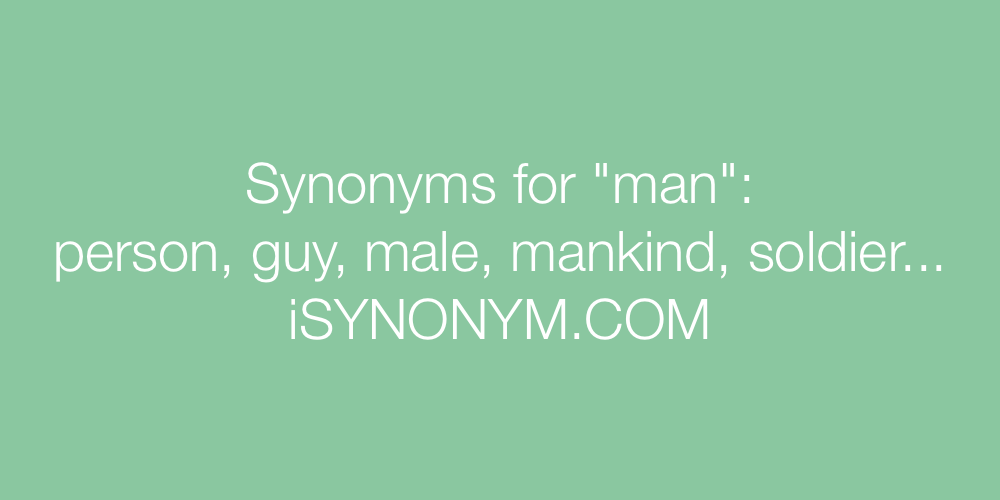 Synonyms man