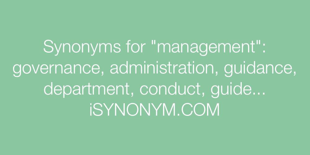 Synonyms management