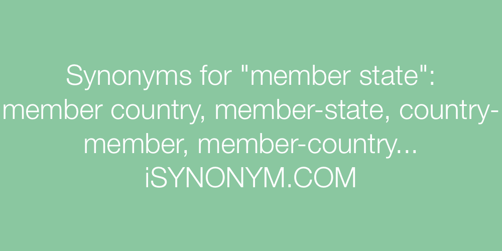Synonyms member state