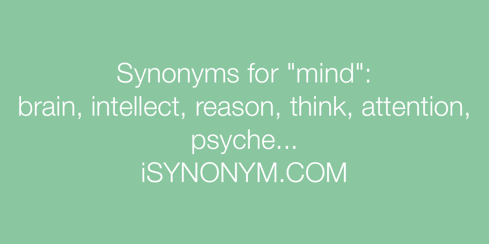 Synonyms mind