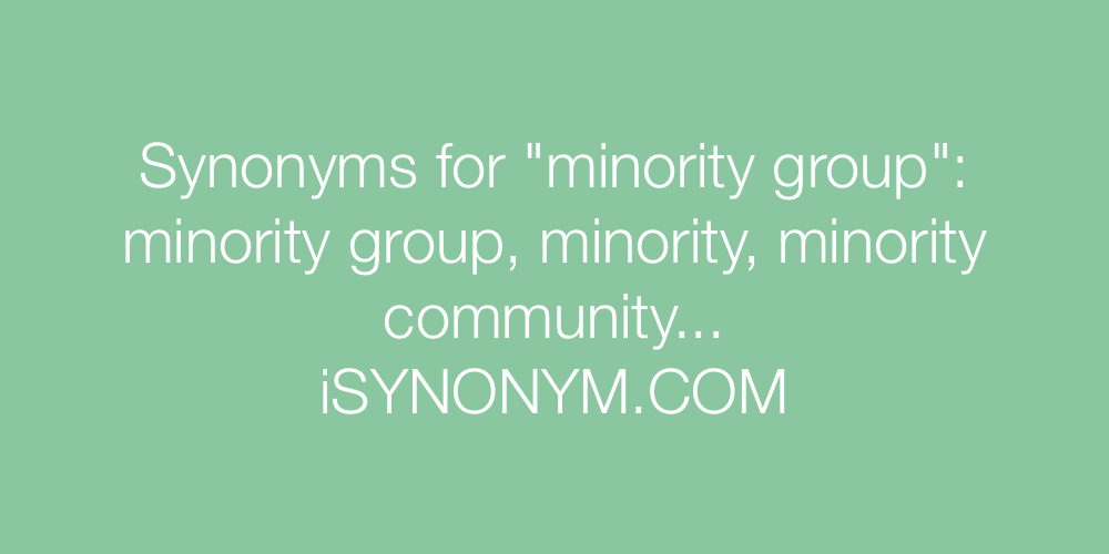 minority synonyms Gallery