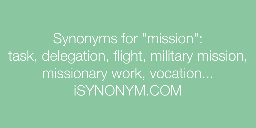 Synonyms mission