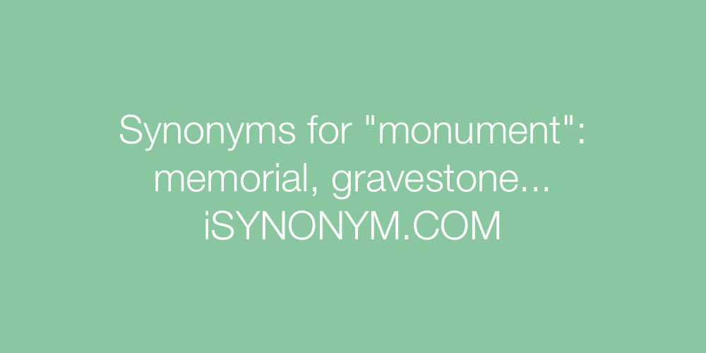 Synonyms monument