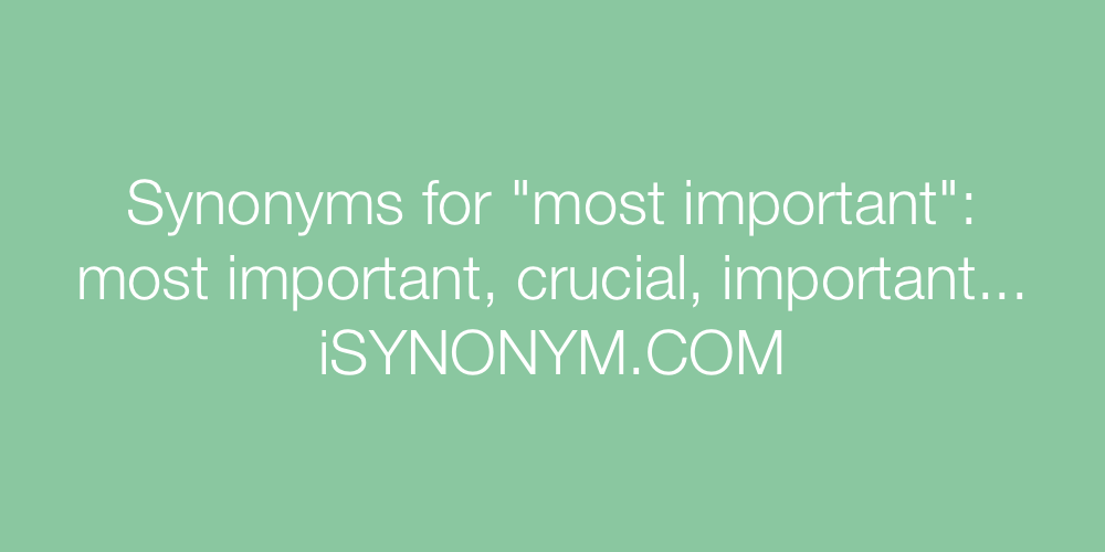 Synonyms most important
