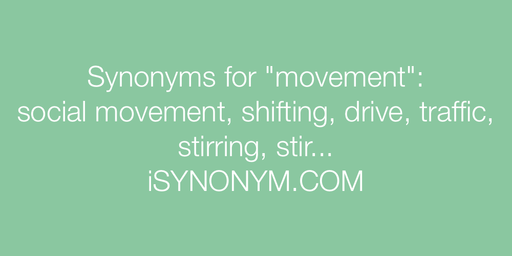 Synonyms Movement In The Picture