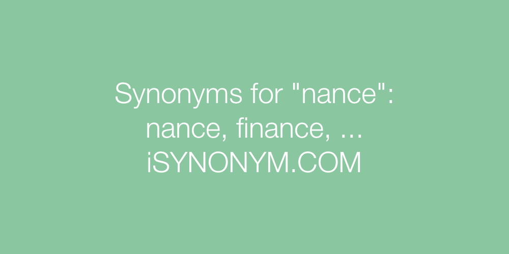 Synonyms nance