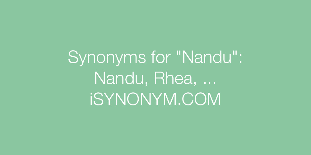 Synonyms Nandu