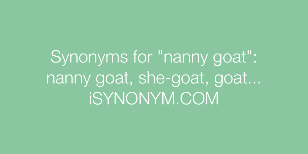 Synonyms nanny goat