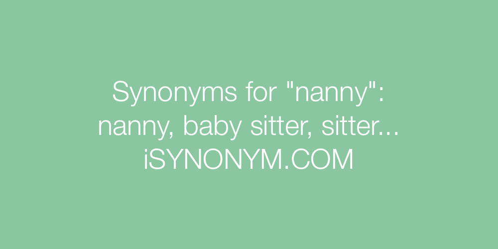 Synonyms nanny
