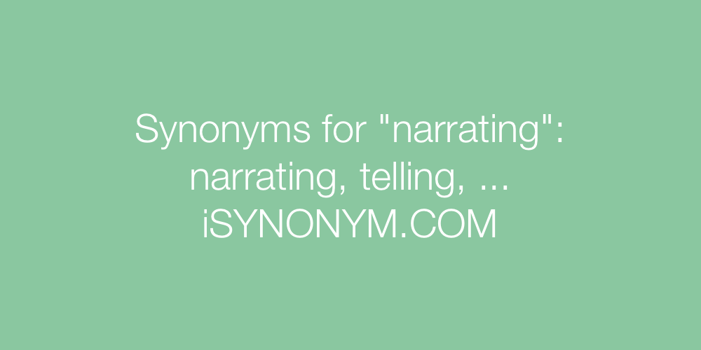 Synonyms narrating