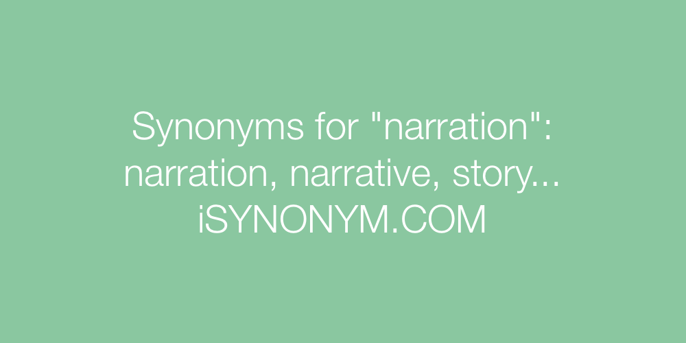 Synonyms narration
