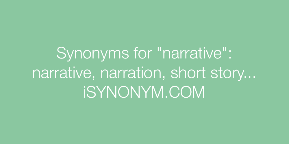 Synonyms narrative