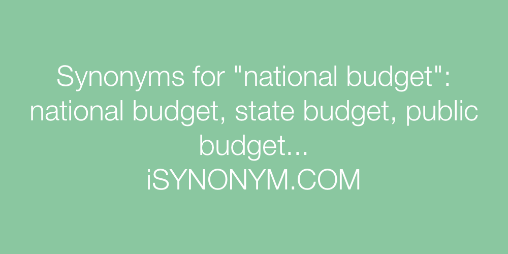 Synonyms national budget