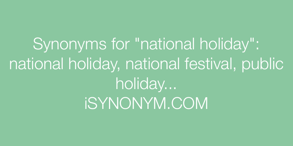 Synonyms national holiday