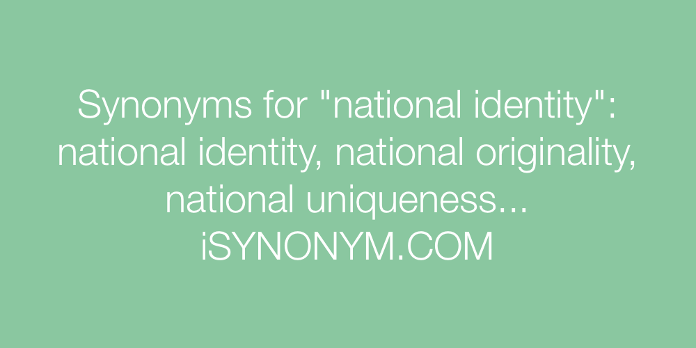 Synonyms national identity