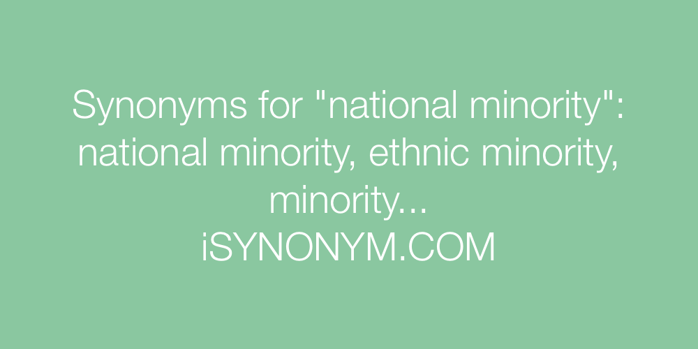 Synonyms national minority
