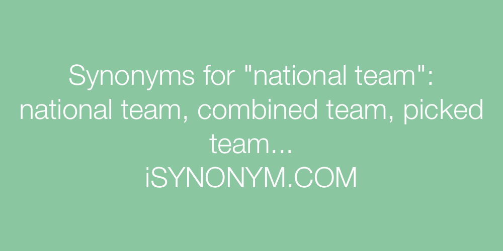 Synonyms national team