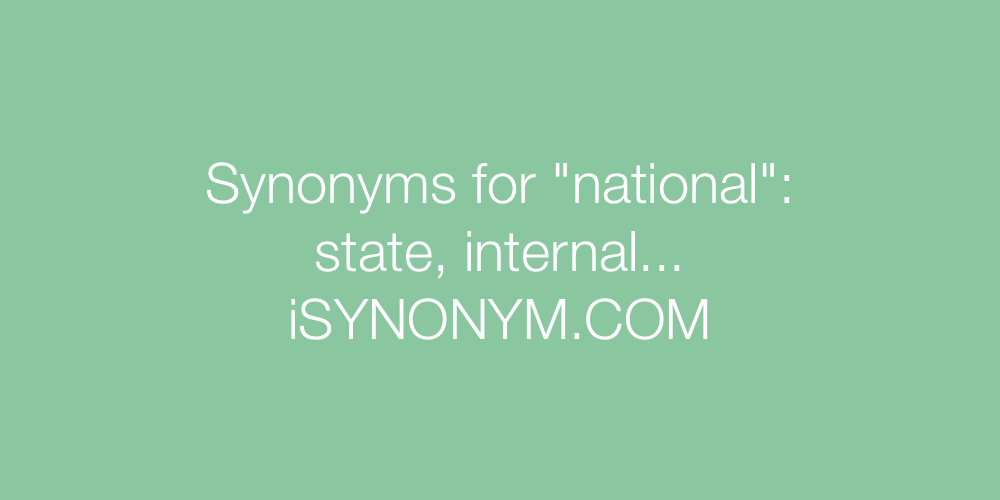 Synonyms national