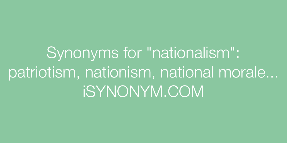 Synonyms nationalism