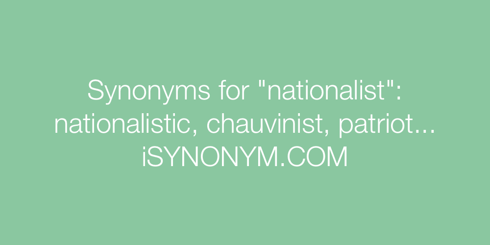 Synonyms nationalist