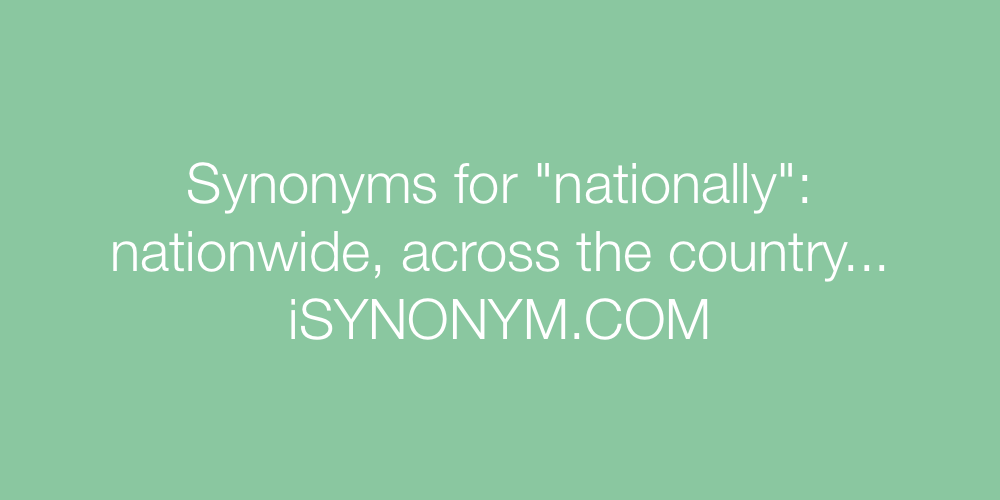 Synonyms nationally