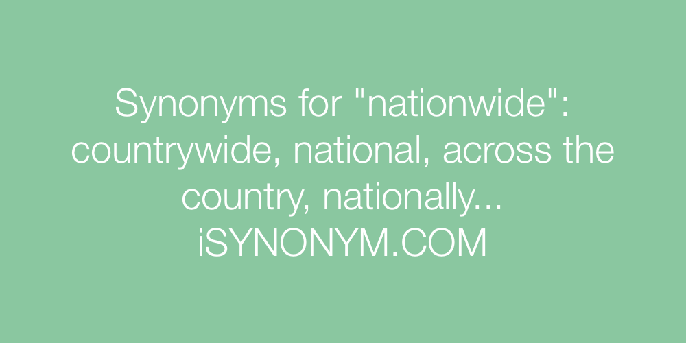 Synonyms nationwide