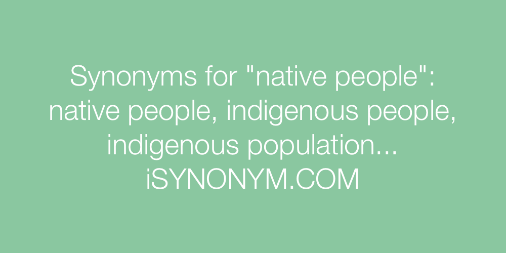 Synonyms native people