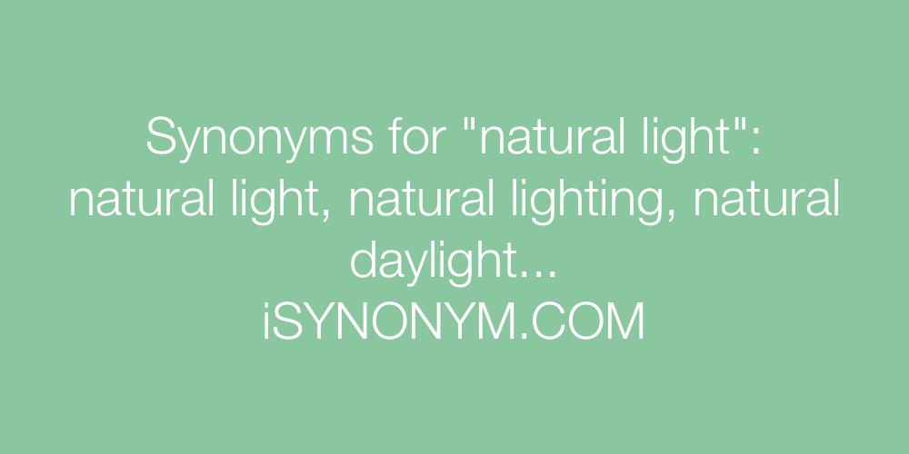 Synonyms natural light