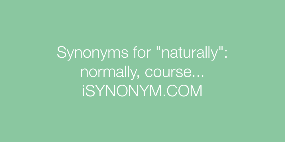 Synonyms naturally