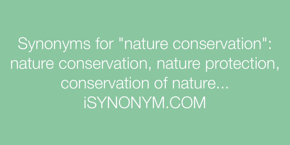 Synonyms nature conservation
