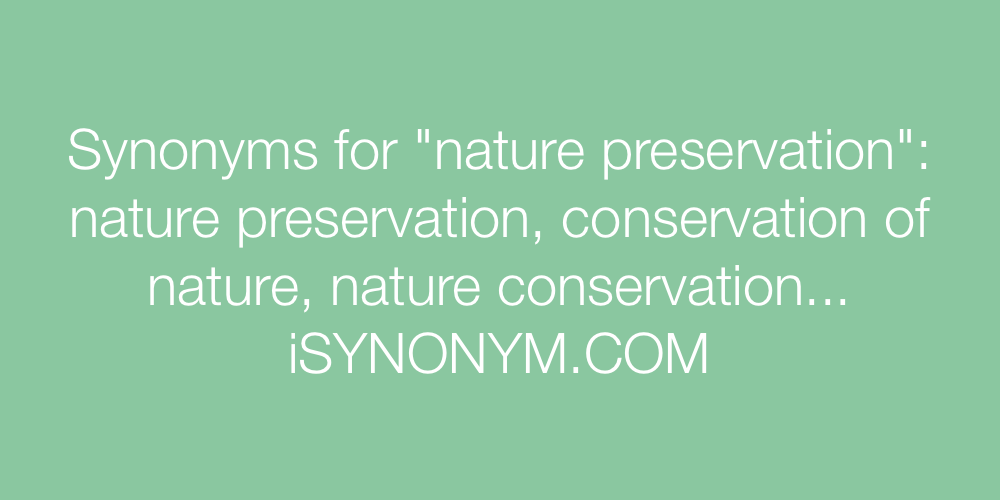 Synonyms nature preservation
