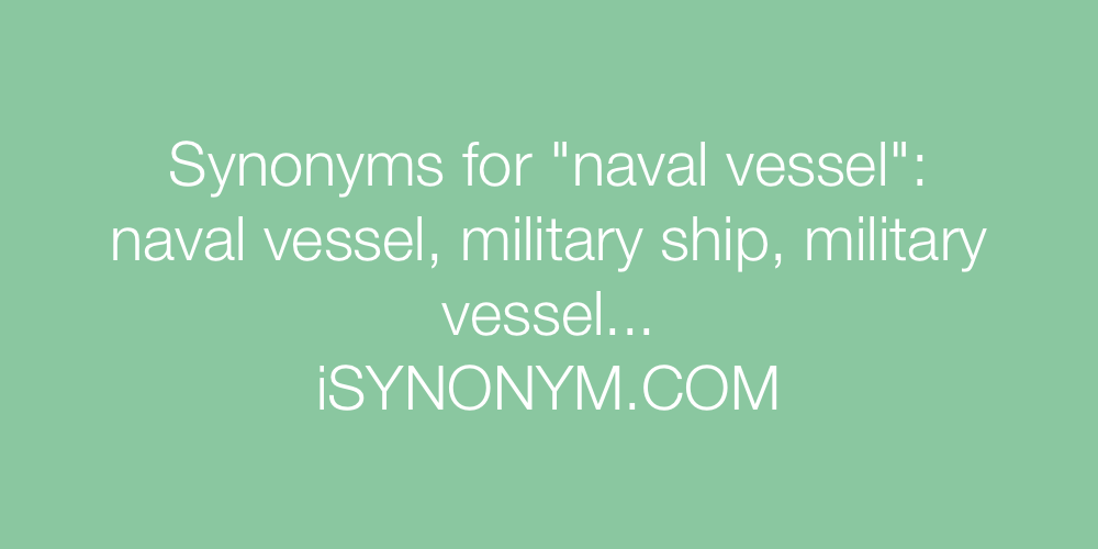 Synonyms naval vessel