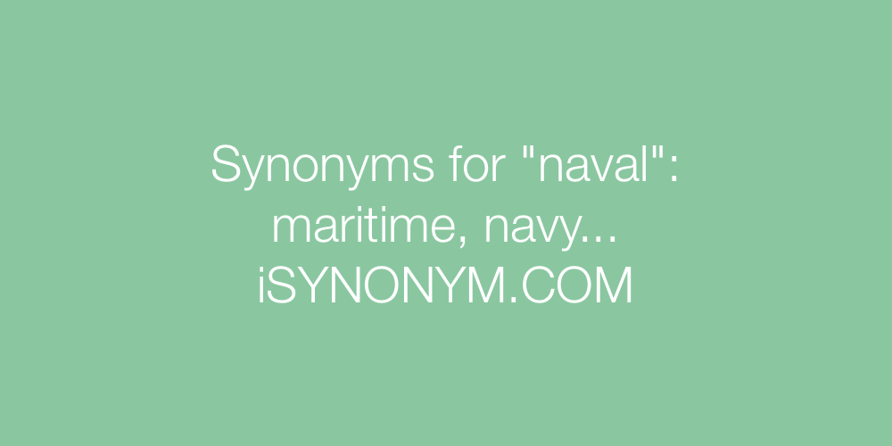 Synonyms naval