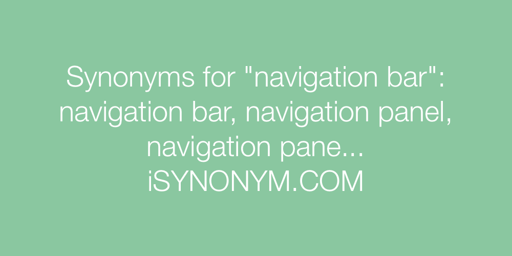 Synonyms navigation bar