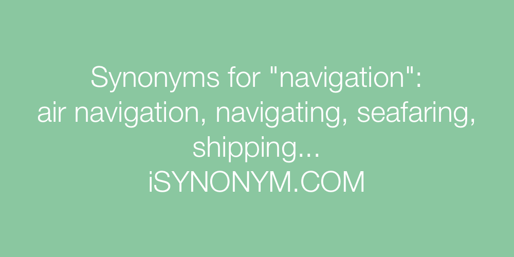 Synonyms navigation