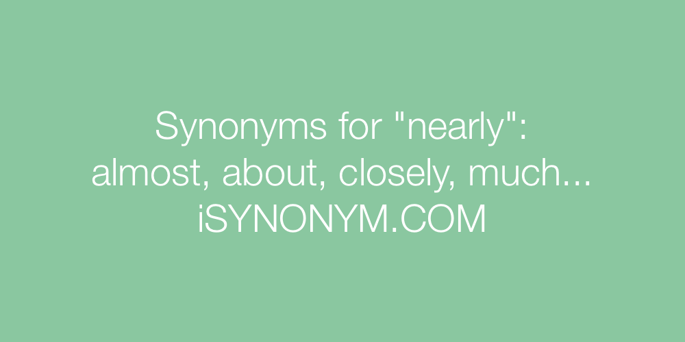 Synonyms nearly