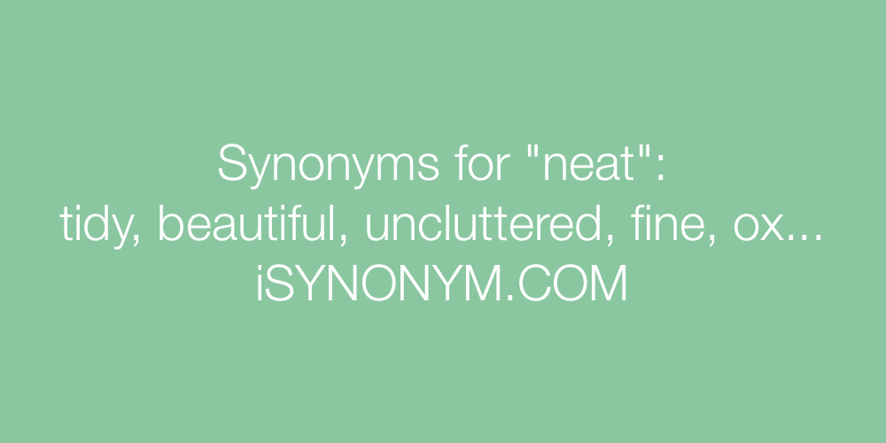 Synonyms neat