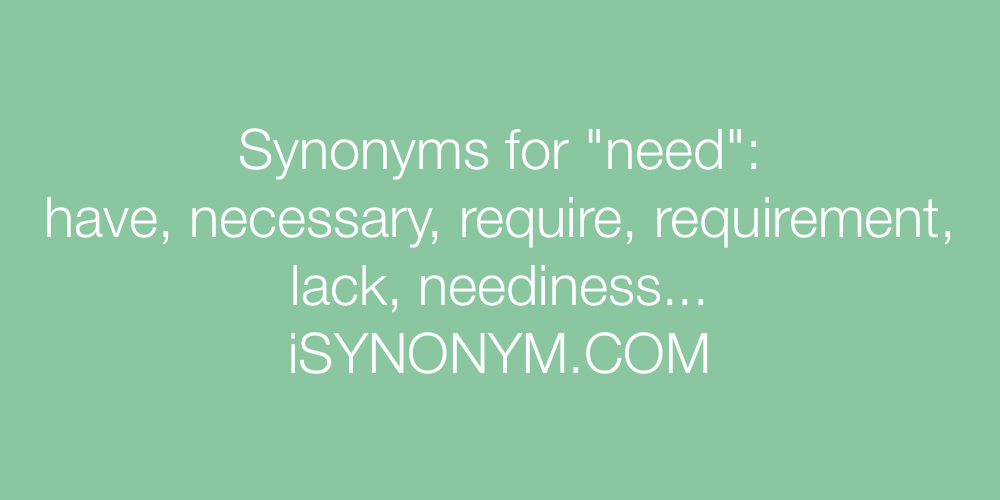Synonyms need