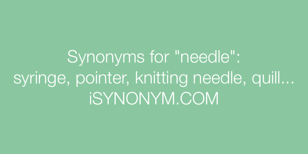 Synonyms needle